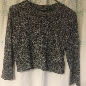 Tops - Grey long sleeve XL crop top *PayPal only please*